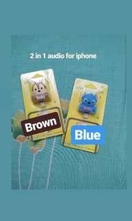 2 in 1 audio for iphone