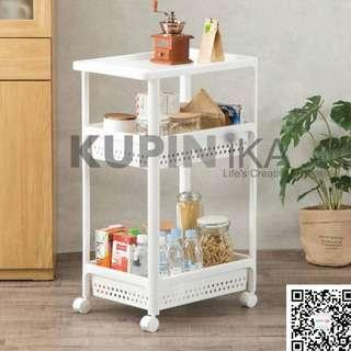Plastic Storage 3/ 4 Tiers with Roller(White)