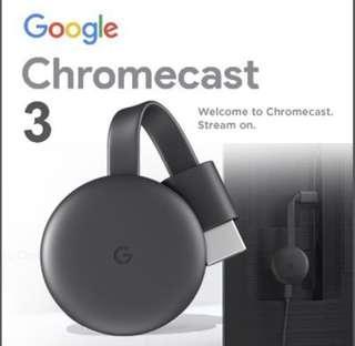 🚚 Google Chromecast 3 Gen