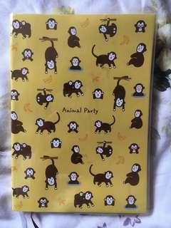Cute banana monkey notebook