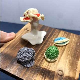 Handmade Miniature knitting Hat Cap 1:12 Dollhouse Decor Accessory