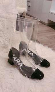Zara transparent Chanel type cute shoe