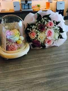 🚚 9 roses hand bouquet | Flower Bouquet