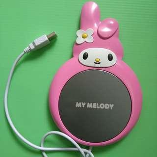 My Melody USB cup warmer 電熱杯墊