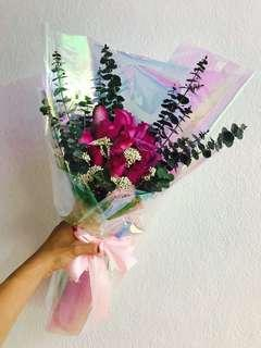 12 roses Bouquet | Hand Bouquet | Flower Bouquet