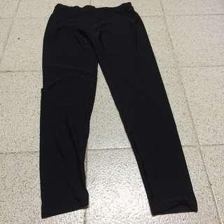 黑色長褲 滑身