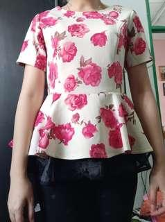 Peplum Top Flower