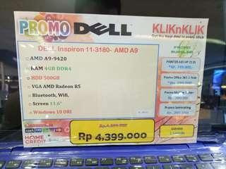 Dijual Laptop Dell Inspiron 11-3180 Bisa Cicilan Tanpa Kartu Kredit