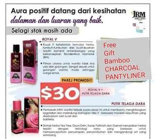 !! Combo Package!! RoyalV and Putik Telaga Dara.