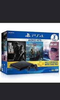 🚚 Brand new PS4 Slim 1TB with 3 Games for sale