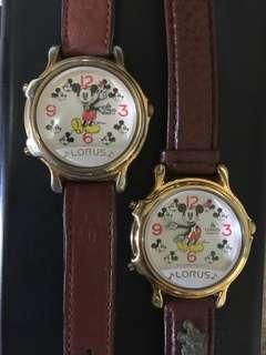 🚚 2 Mickey Mouse Watches