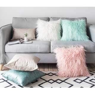 Princess Style Colourful Fluffy Cushion Cover, 公主款毛毛系咕𠱸套