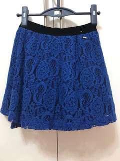 🚚 Aeropostale Blue Lace Mini Skirt