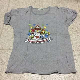 T-shirt 短袖 上衣 灰色 Sanrio