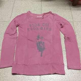 Pink tee 粉紅 上衣 長袖