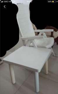 Kursi folding chair sama meja