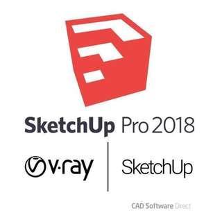 🚚 Sketchup Pro&AutoCAD 2015-2018