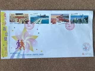 慶回歸為公益千萬行-香港經濟建設套裝郵票千萬行紀念郵封(中國郵政)