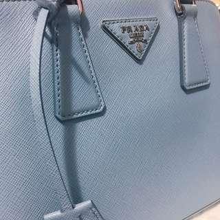 Prada handbag 粉藍色手袋