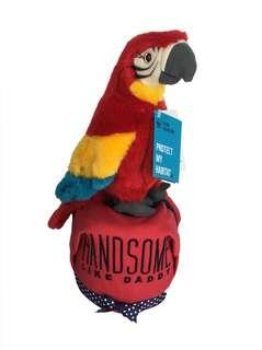 Mini Diaper Cake – Handsome Red Macaw Baby Gift Hamper  🐦