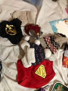 Xxsmall dog clothing and hat
