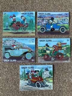 UNION ISLAND 迪士尼郵票 (一套5個)