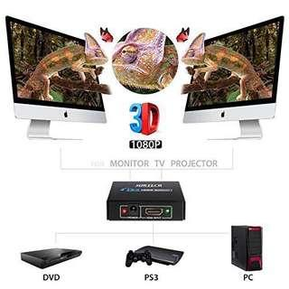 3D Support !! HDMI 1 in 2 Out Splitter