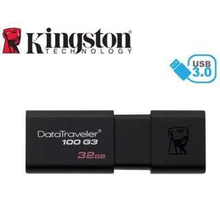 Kingston DataTraveler 100 G3 32GB DT100G3 USB 3.0 Flash Drive