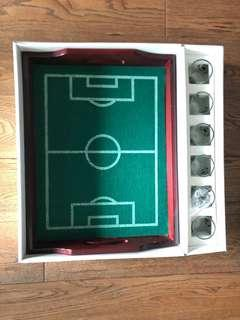 Jockey club football shot glass set with felt tray