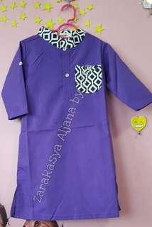 Raya boy Jubah purple