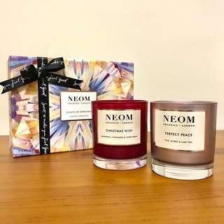 🚚 轉售|NEOM聖誕蠟燭禮盒(香料萊姆+聖誕祈願)▸10/10 HOPE總代理公司貨
