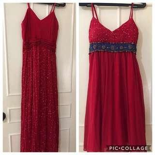 B1T1 Red Long Gown&Cocktail Dress