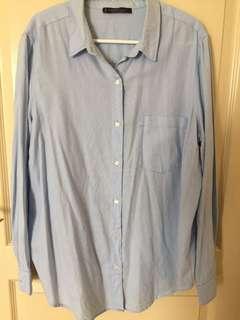 Violeta Blue Long Sleeve Shirt