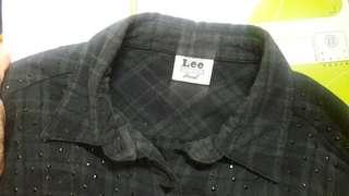 🚚 Lee二手綠格襯衫
