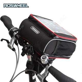 🚚 Roswheel-全新側背小折疊車頭包:觸控平板手機袋 自行車手袋 腳踏車把包 單車把手袋 小摺疊車前包 Ipad龍頭包