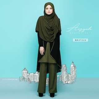 Aisyah Suit by Jelita Wardrobe (Olive Green Size M)