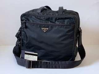 Authentic Prada Black Tessuto Large Diaper Bag