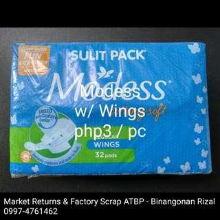 Modess Regular Pad with Wings 32's OLD PACKAGING