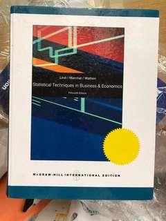 Statistical techniques in bussiness and economics (lind / marchal)