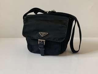 Authentic Prada Small Nylon Messenger Sling Bag