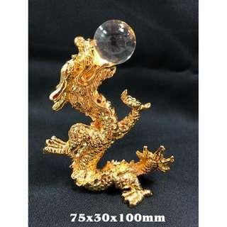龍吐珠水晶+金屬 75x30x100mm