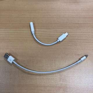 Kabel charger iphone dan converter lightning ke usb