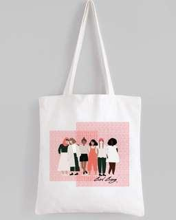 #girlgang White Tote Bag