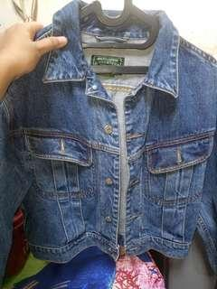 Jaket jeans crop by polo ralph laurent