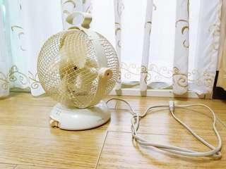🚚 大同 小豆色可愛復古款桌上型電風扇 圓球形 大同電扇 7吋