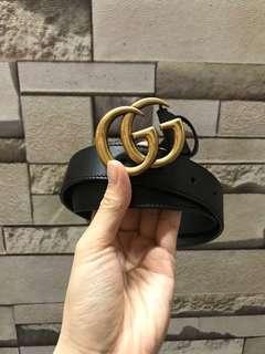 Gucci gg logo belt 皮帶 腰帶 3cm