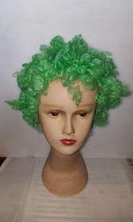 綠色捲假髮 Green curls wig