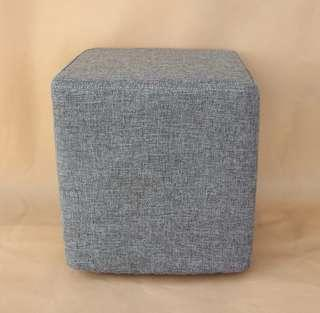 Grey stool chair foot rest