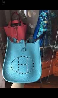 🚚 Full set with receipt! Hermes Evelyne Mini TPM
