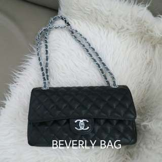 2edf4be87123 Jual Tas Mirror Chanel Classic Caviar 25 TAS ORI LEATHER MIRROR - hitam SHW